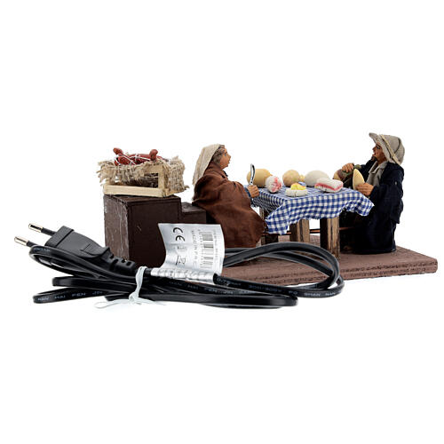 Animated dinner table scene 10 cm Neapolitan nativity 9