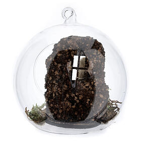 Nativité boule en verre Naples 10 cm s4