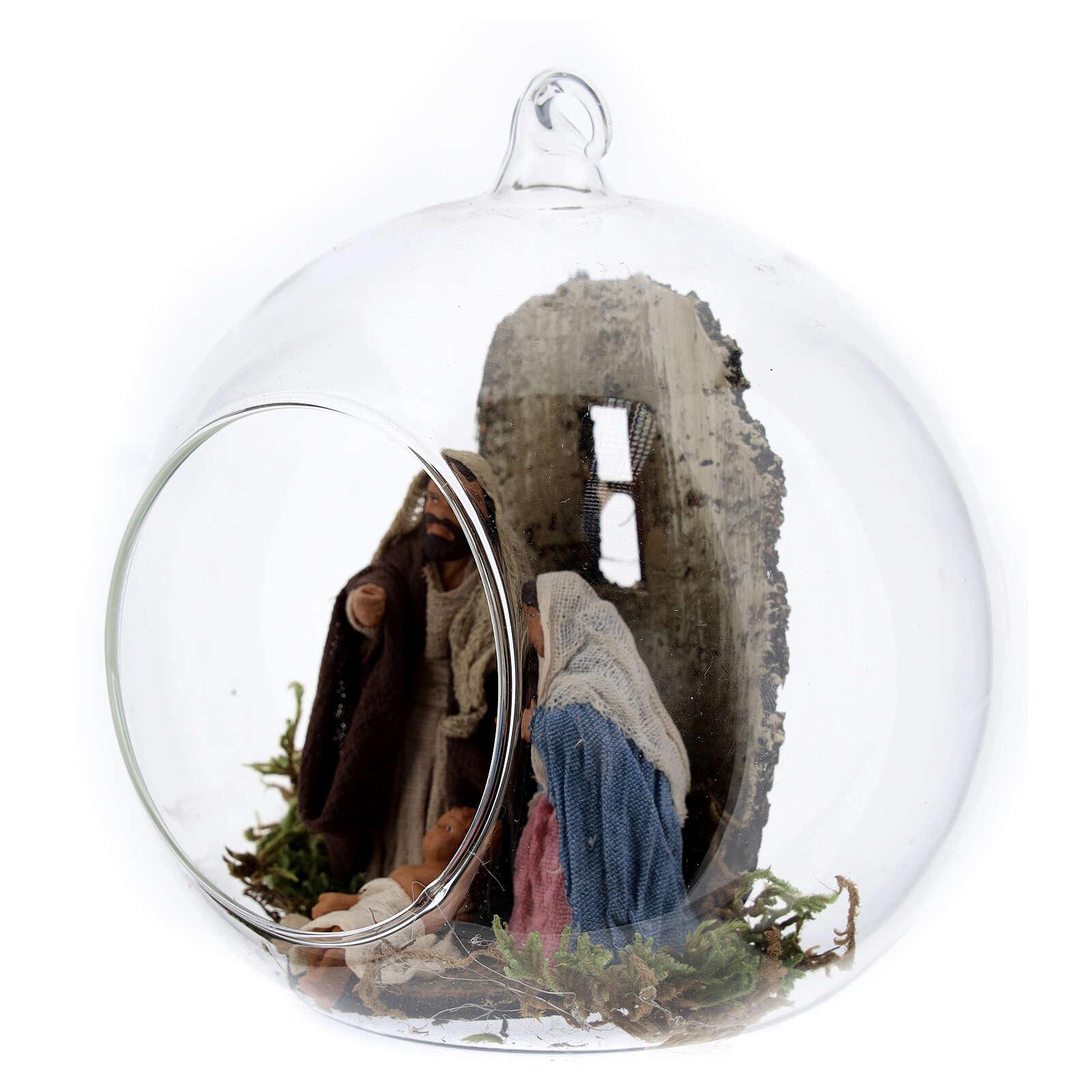 Natividade bola árvore de Natal com figuras de altura média 10 cm 4