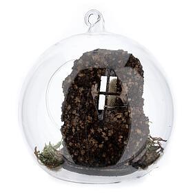 Natividade bola árvore de Natal com figuras de altura média 10 cm s4