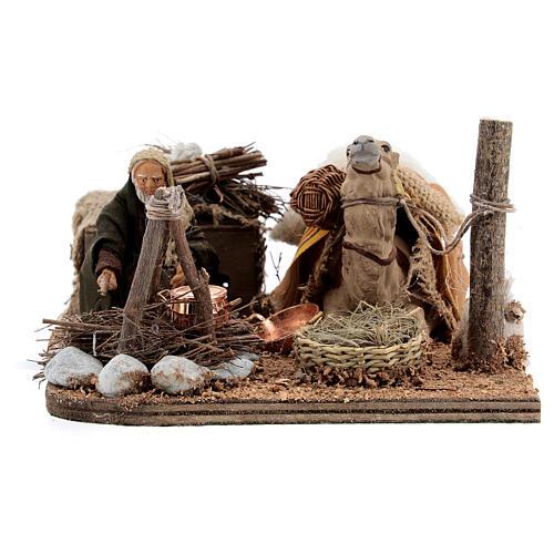 Camel rider Neapolitan Nativity scene 10 cm 1