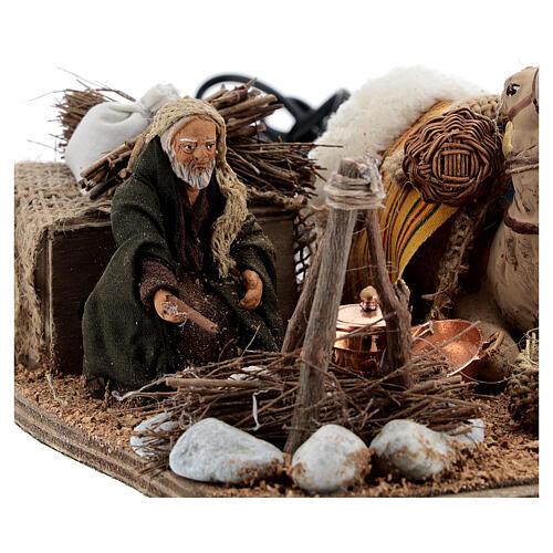 Camel rider Neapolitan Nativity scene 10 cm 2