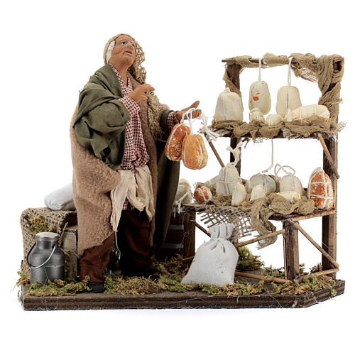 Cheese seller Neapolitan Nativity scene 14 cm 1