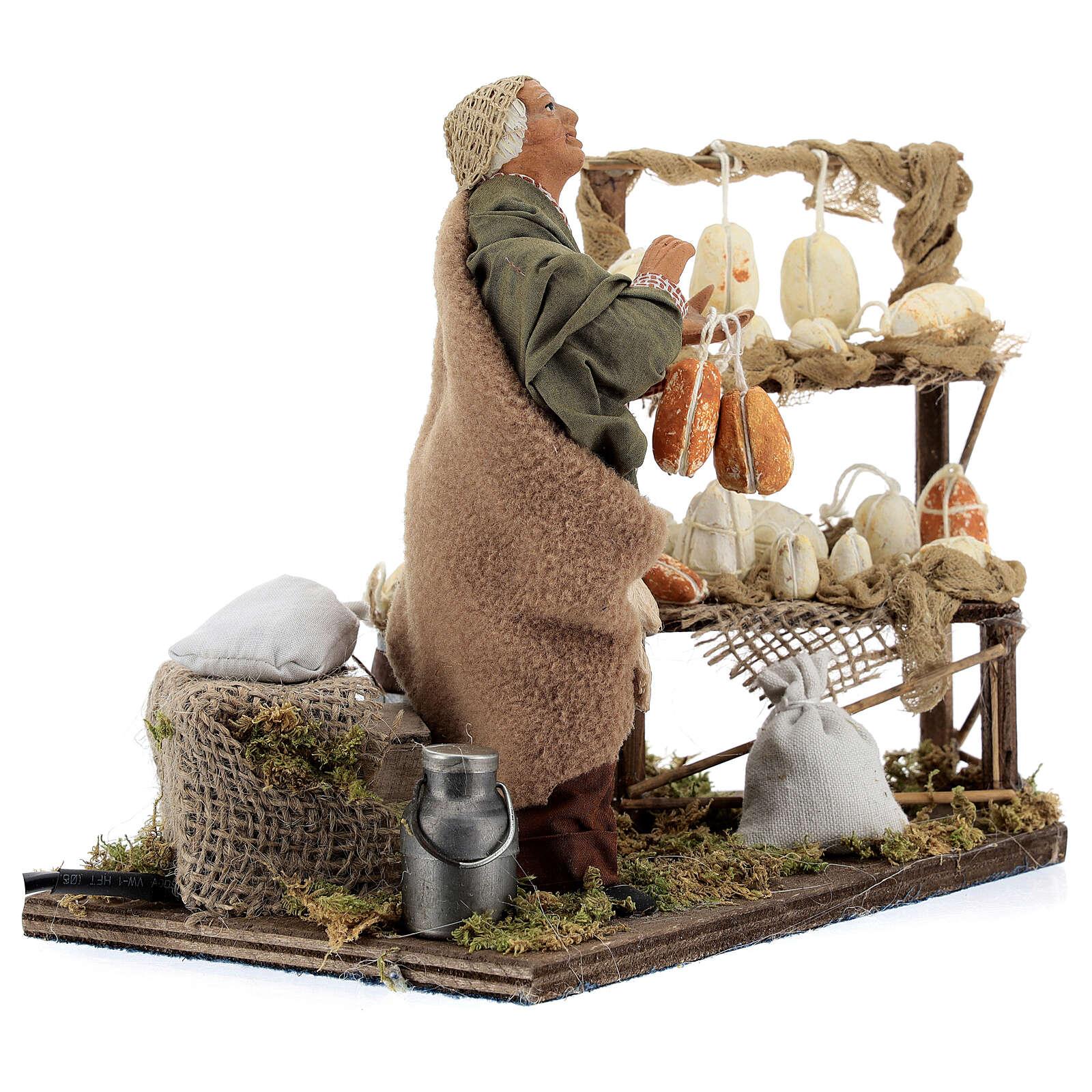 Animated cheese seller, 14 cm Neapolitan nativity 4