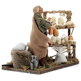 Animated cheese seller, 14 cm Neapolitan nativity s4