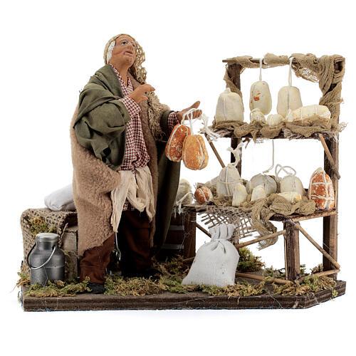 Animated cheese seller, 14 cm Neapolitan nativity 1