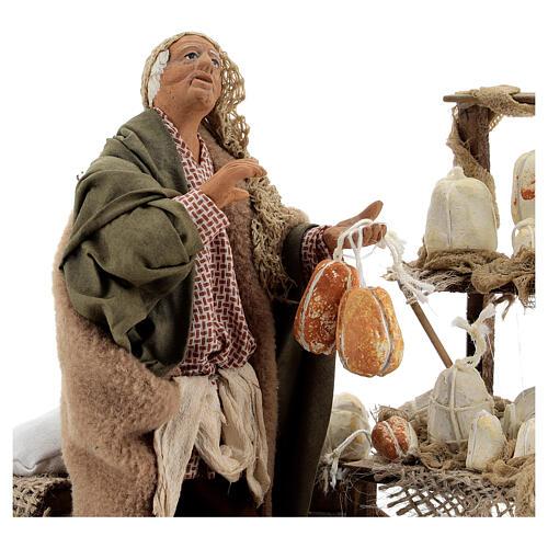 Animated cheese seller, 14 cm Neapolitan nativity 2