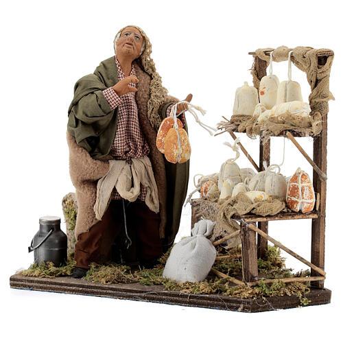 Animated cheese seller, 14 cm Neapolitan nativity 3