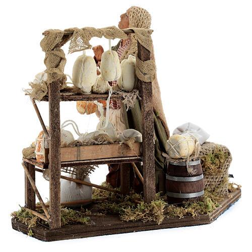 Animated cheese seller, 14 cm Neapolitan nativity 5