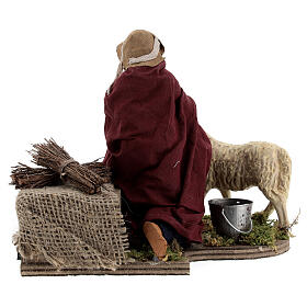 Shepherd and sheep Neapolitan Nativity scene 14 cm s5