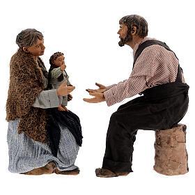Family statue, 30 cm Neapolitan nativity s1