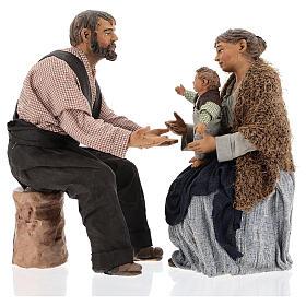 Family statue, 30 cm Neapolitan nativity s8