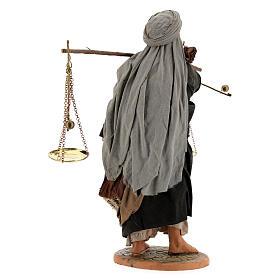 Pastor com balança e cesto para presépio napolitano com figuras de altura média 30 cm s6