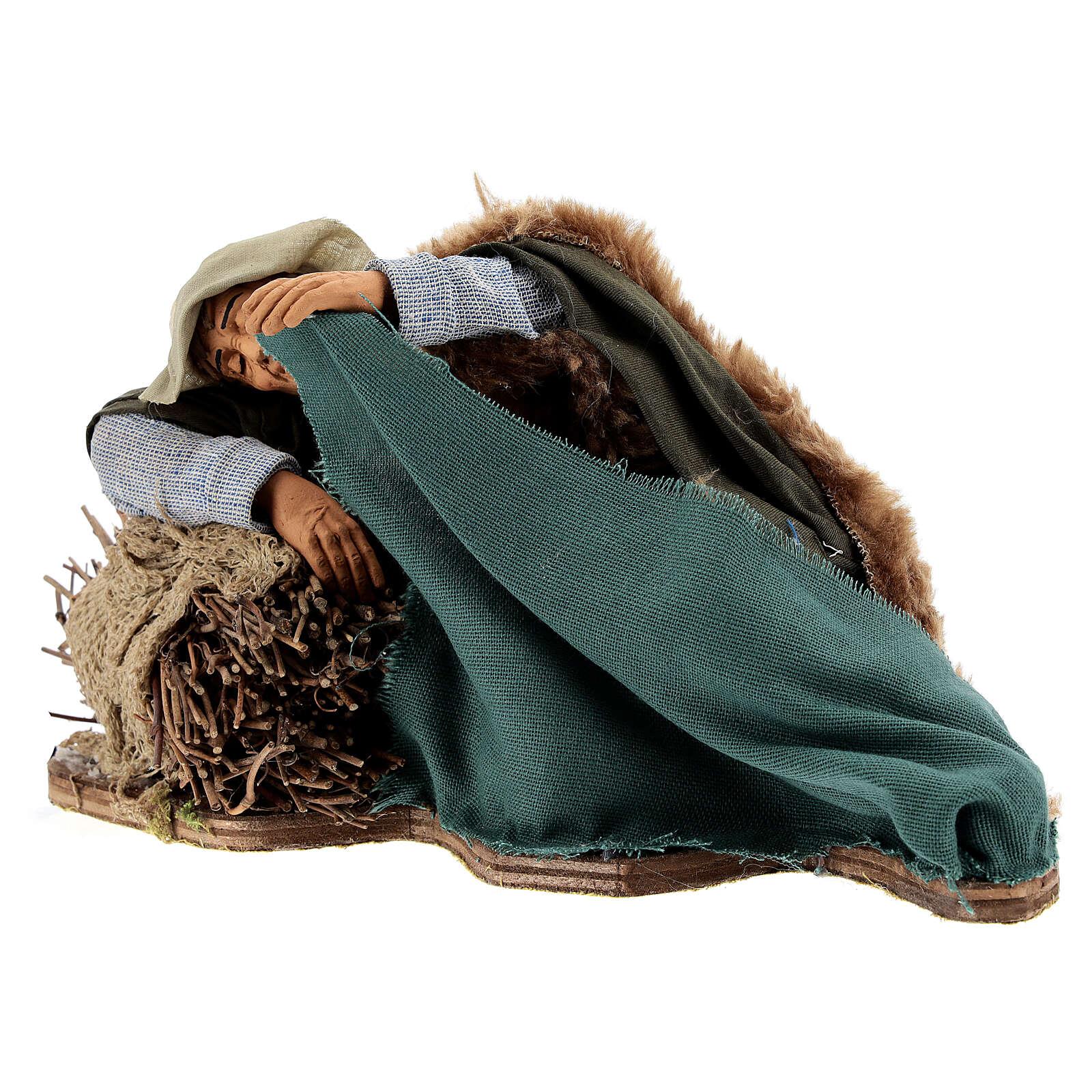 Movimiento pastor que duerme Nápoles 30 cm 4