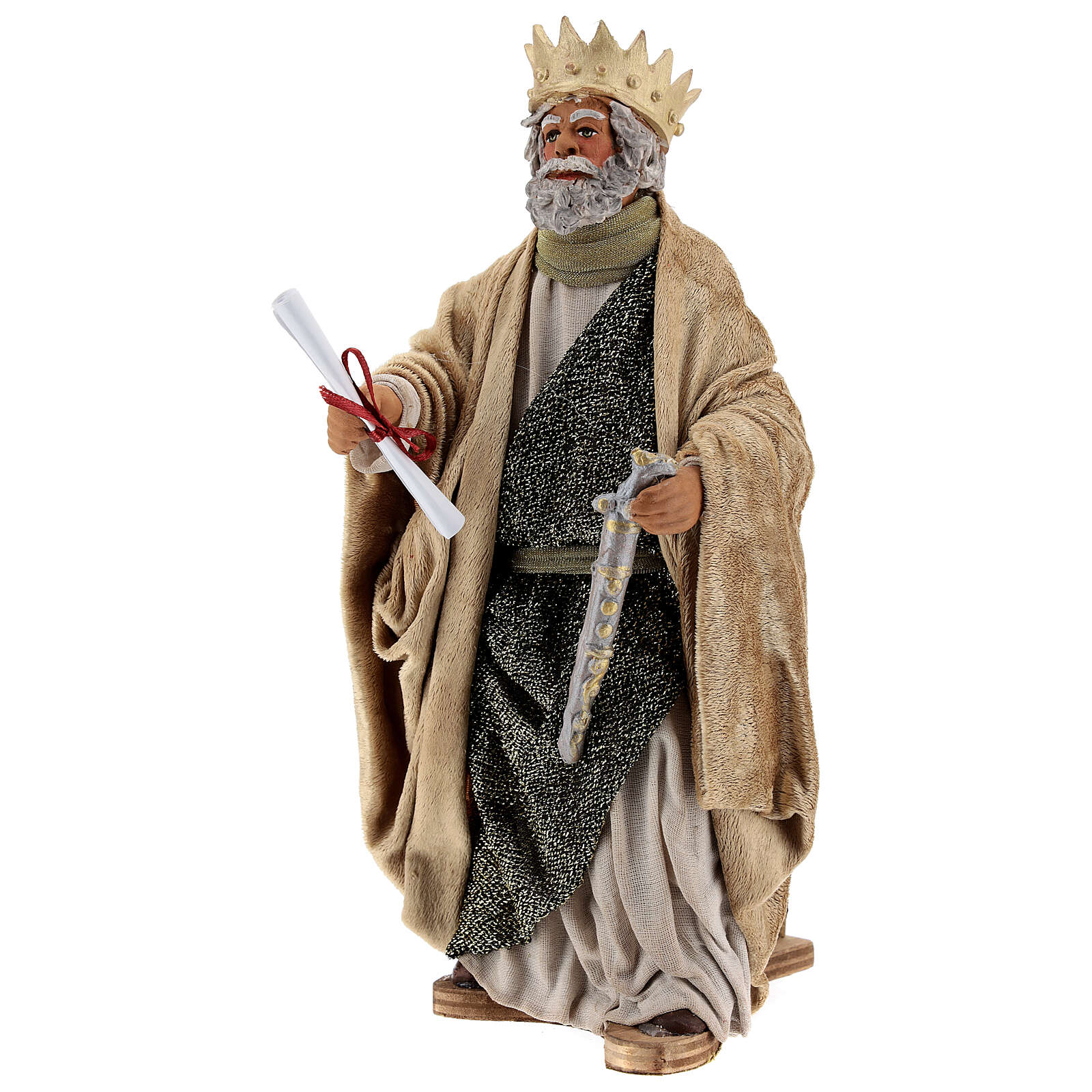 Rey Herodes movimiento belén Nápoles 24 cm 4
