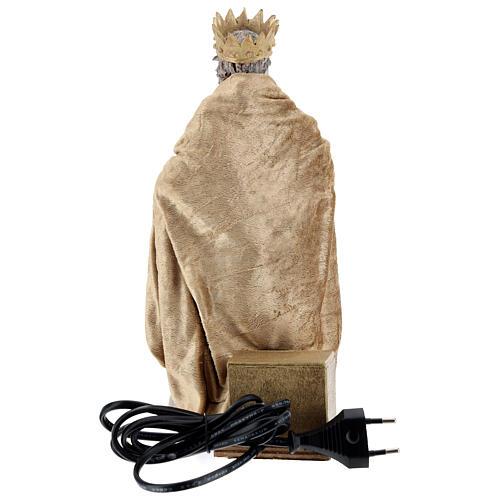 Rei Herodes movimento presépio napolitano com figuras altura média 24 cm 5