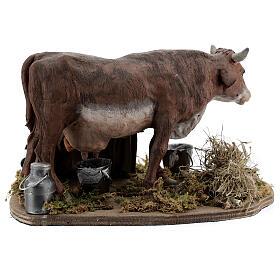 Man milking cow animated statue, 14 cm Naples s4