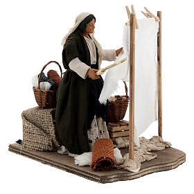 Woman beating clothes for Neapolitan Nativity Scene with 14 cm figurines s4