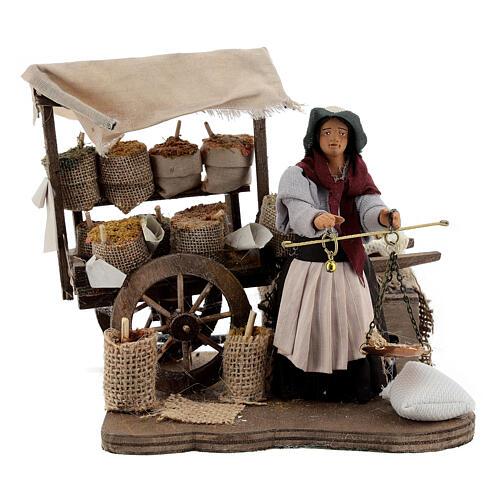 Spice seller Neapolitan Nativity scene 12 cm 1