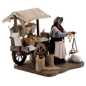 Animated spice seller statue, 12 cm Naples s4