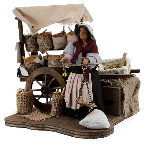 Animated spice seller statue, 12 cm Naples 3