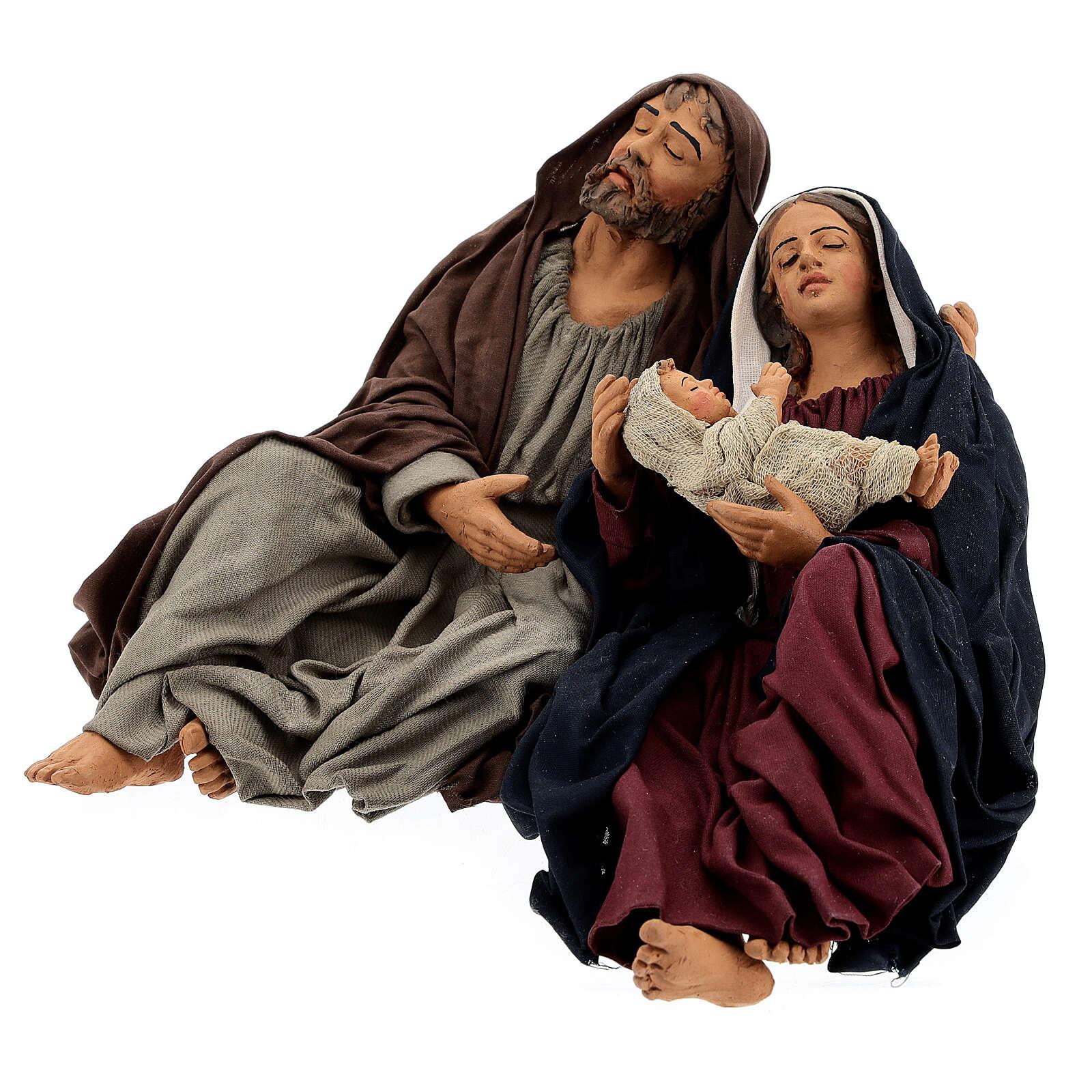 Sainte Famille endormie Naples 30 cm 4