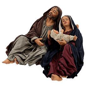 Sacra Famiglia dormiente Napoli 30 cm s3