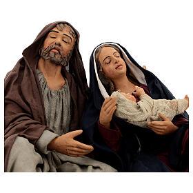 Sagrada Família dormindo para presépio napolitano com figuras de altura média 30 cm s2