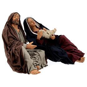 Sagrada Família dormindo para presépio napolitano com figuras de altura média 30 cm s5