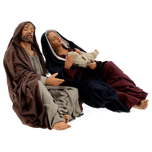 Sagrada Família dormindo para presépio napolitano com figuras de altura média 30 cm 5