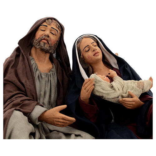 Holy Family sleeping, 30 cm Naples 2
