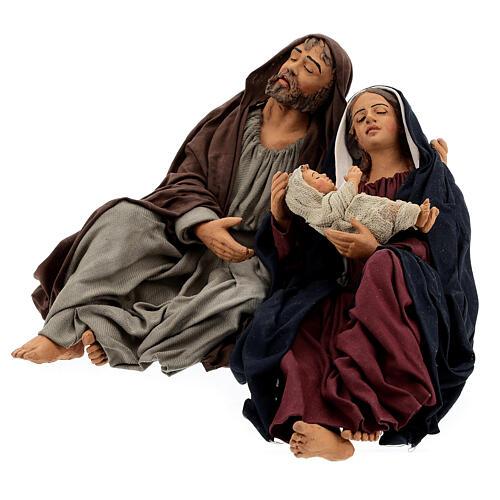 Holy Family sleeping, 30 cm Naples 3
