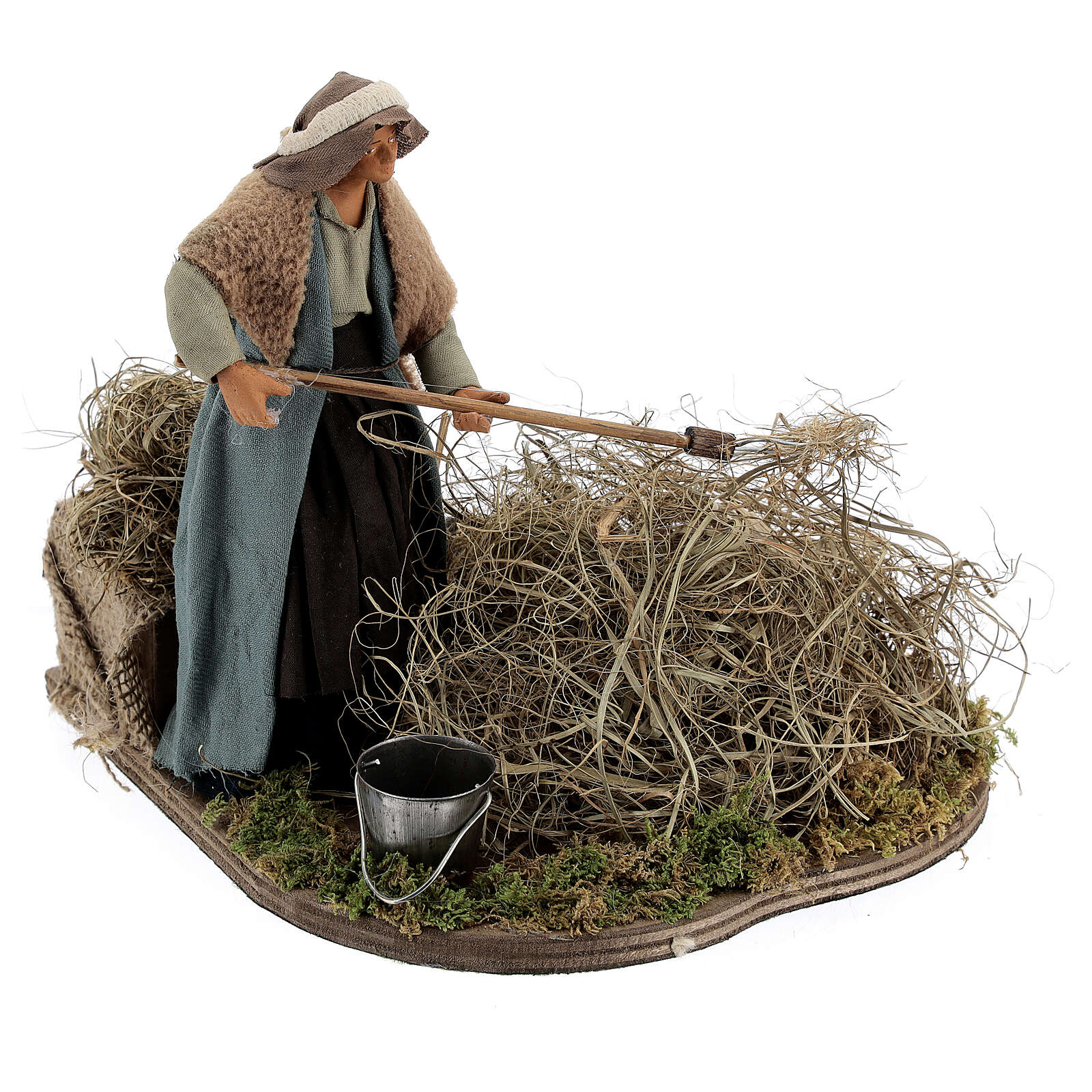 Woman farmer Neapolitan Nativity scene 14 cm 4