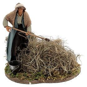Woman farmer Neapolitan Nativity scene 14 cm s1