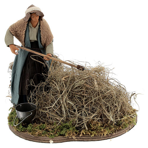 Woman farmer Neapolitan Nativity scene 14 cm 1