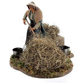 Animated farmer figure, 14 cm Neapolitan nativity s3