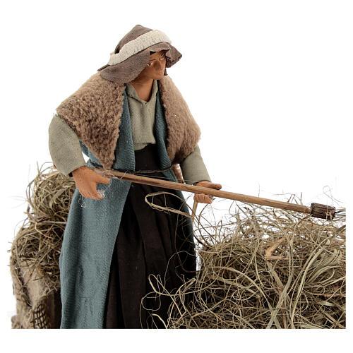 Animated farmer figure, 14 cm Neapolitan nativity 2