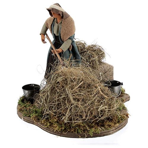 Animated farmer figure, 14 cm Neapolitan nativity 3