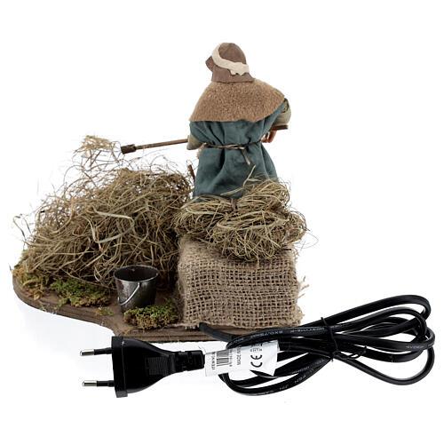 Animated farmer figure, 14 cm Neapolitan nativity 5