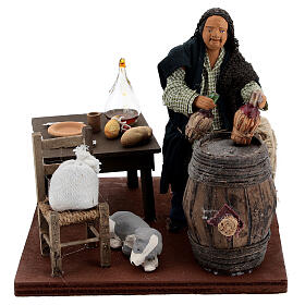 Drunkard in a tavern animated nativity 12 cm s1