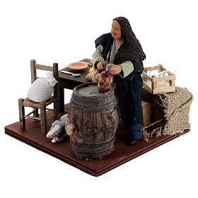 Drunkard in a tavern animated nativity 12 cm s3
