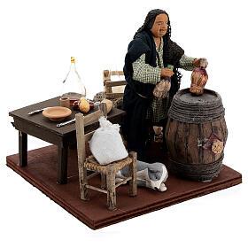 Drunkard in a tavern animated nativity 12 cm s4