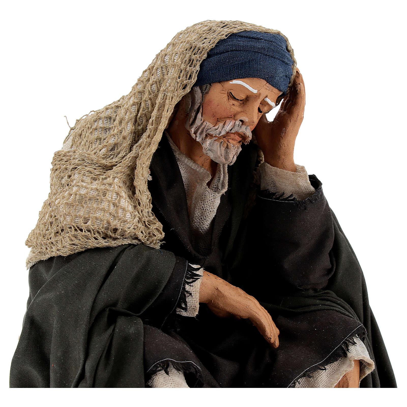 Man resting, 30 cm Neapolitan nativity 4