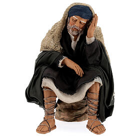 Man resting, 30 cm Neapolitan nativity s1