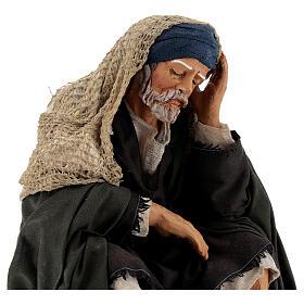 Man resting, 30 cm Neapolitan nativity s2