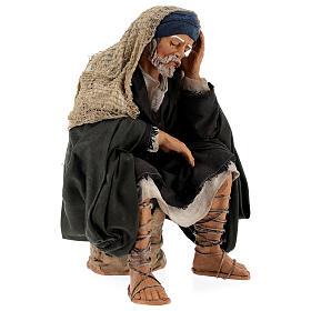 Man resting, 30 cm Neapolitan nativity s4