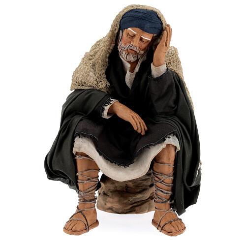 Man resting, 30 cm Neapolitan nativity 1
