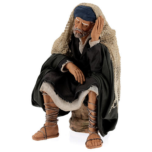 Man resting, 30 cm Neapolitan nativity 3