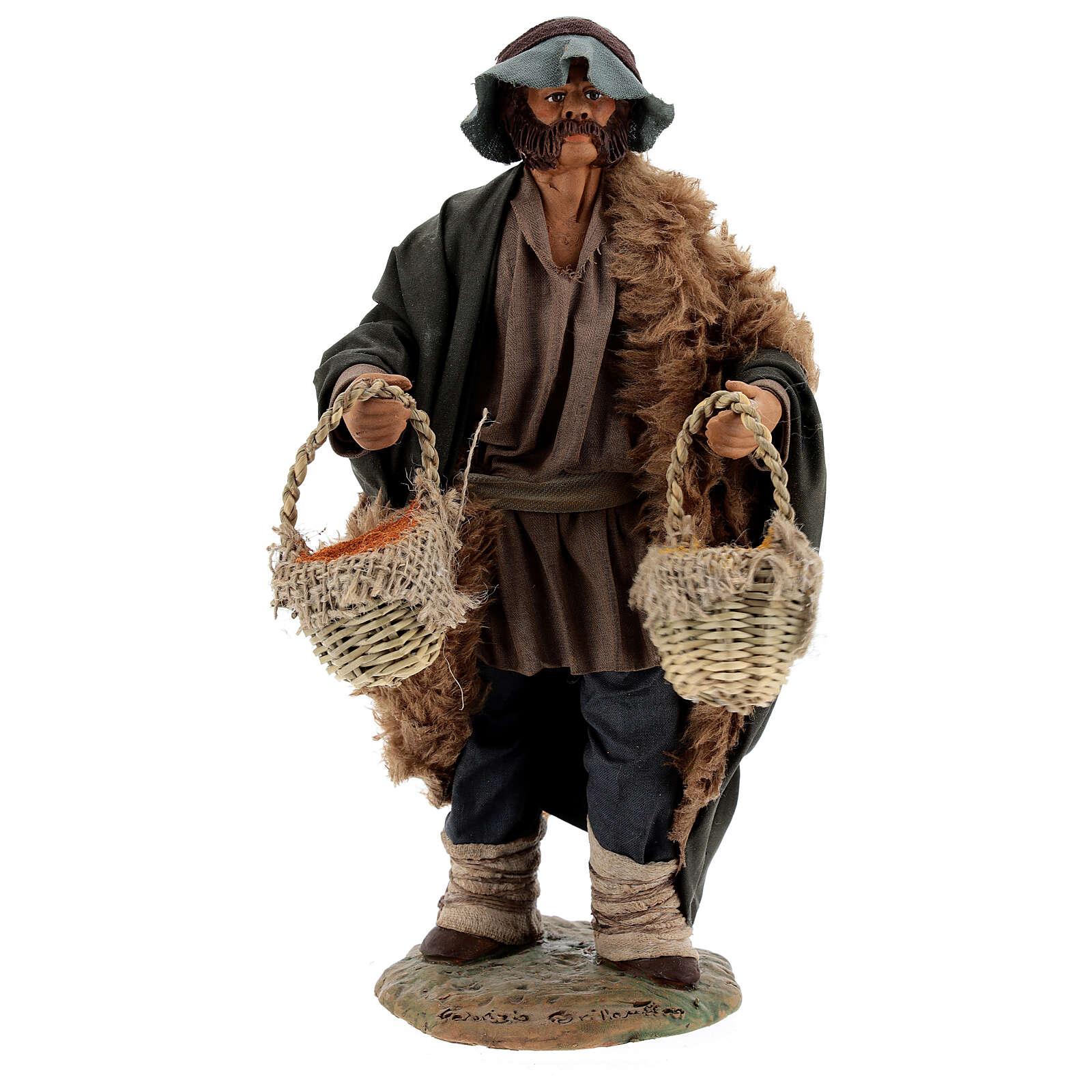 Vendedor de especiarias para presépio napolitano com figuras de altura média 24 cm 4