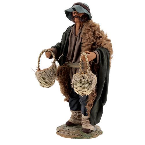 Vendedor de especiarias para presépio napolitano com figuras de altura média 24 cm 3
